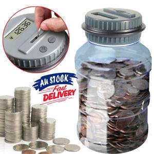 LCD Saving Box Electronic Money Bank Counter Counting Jar Coin Digital