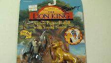Lion King Simba & Rafiki action figure signed by Tom Bancroft w/ COA!