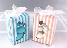 20x BLUE or PINK FEET BABY SHOWER CHRISTENING WEDDING FAVOUR BONBONNIERE BOXES