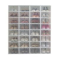 6×/12× Storage Shoes Box Transparent Foldable Stackable Sneaker Display Shoe Box