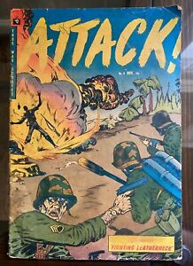 Attack #4 Violent Flame Thrower Cover - Youthful Magaizines 1952 -Good/Very Good