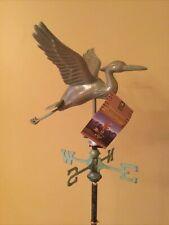 Good Directions Blue Verde Copper Cottage Blue Heron Weathervane - 8805V1 w/Rm