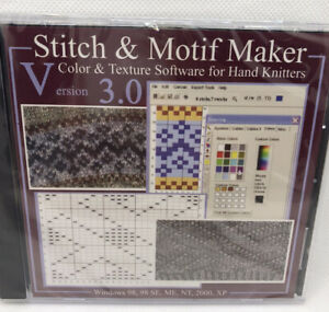 Stitch & Motif Color & Texture Maker Software 3.0 for Hand Knitters New Sealed