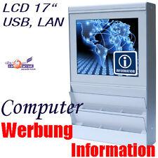 """INFOTERMINAL PC FÜR WERBUNG LCD DISPLAY 43.2CM 17"""" 1GHZ 512MB 40GB ALS KASSE POS"""