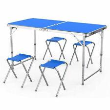 Küche Garten Outdoor Picknick Camping Faltbar Tragbar 4 Stuhl Tisch Set 120*60c