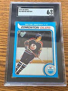 1979-80 Topps #18 WAYNE GRETZKY Rookie RC SGC 6 Edmonton Oilers ~SSFCJ-03