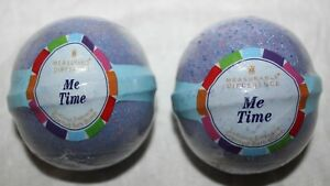 Lot of 2 Bath & Body Works Me Time Lucious Embrace Scented Bath Bomb Fizzy New