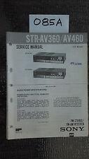 Sony str-av360 str-av460 Service Manual Original Book tuner radio receiver repai