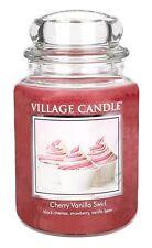 Village Candle Cherry Vanilla Swirl Jar Dual Wick - Official Village Retailer