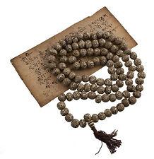 Collier Chapelet Rosaire Mala Tibétain Perles Nacre de Coquillages Om Ø14 mm 558
