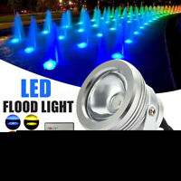 10W RGB LED Light Fountain Pool Pond Spotlight Underwater Waterproof+Remote