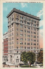 Postcard The Union National Bank Clarksburg West Virginia W VA