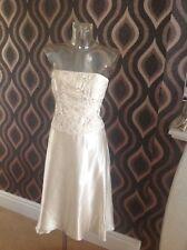 BNWT Ladies Monsoon Dress cream  lace design size 14 ideal cruise wedding  £145