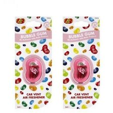 Jelly Belly Bubble Gum Flavour Vent Car Air Freshener - Pack of 2