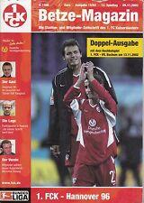 Bundesliga 2002/2003 1.FC Kaiserslautern - Hannover 96