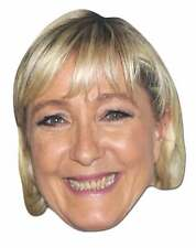 Marine Le Pen French Politician Single 2D Card Party Face Mask