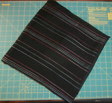 """2.75 Yards Black Embroidered Fabric 45"""" w Synthetic Suede Like"""