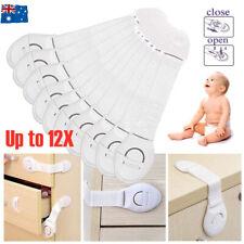 Child Kids Baby Safety Locks Door Drawers Cupboard Oven Cabinet Adhesive Belt AU