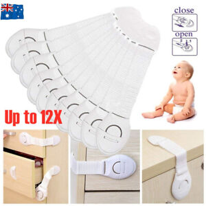 Child Kids Baby Safety Locks Door Drawers Cupboard Oven Cabinet Adhesive Belt AU