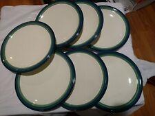 """7 Pfaltzgraff Ocean Breeze 10"""" Dinner Plates, EUC!"""