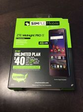 """NEW SIMPLE MOBILE ZTE MIDNIGHT PRO 4G LTE 5"""" 8GB ANDROID 5.1 LOLLIPOP SMARTPHONE"""
