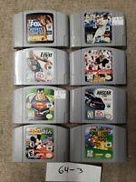 Lot Of 8 N64 Games Nintendo 64 Super Mario 64, Mickey's speedway, Superman #3