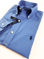 BNWT Ralph Lauren Men's Shirt Aerial Blue Performance Poplin Standard Fit