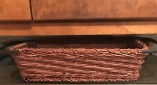 Wicker Basket Serving Plate with Iron Handles