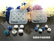 2pcs 9&12mm 3D Rondelle Silicon Mold Mould Hole For Epoxy Resin Jewelry Bead DIY