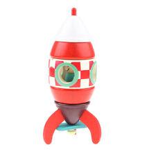 DIY Wooden Assembled Magnetic Rocket Ship Model Toys for Kids Children
