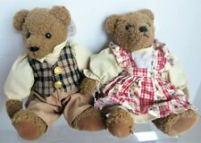 """Boy & Girl pair 9"""" SUNKID BEARS, Made in Germany"""