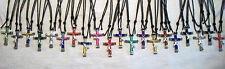 "Horseshoe Nail Cross ""10 cross Combo"" Necklace or Key ring - You choose colors!"