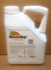 Roundup 360 PLUS Unkrautvernichter, Glyphosat 5 L. Import MONSANTO