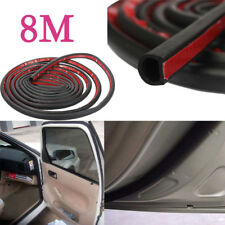8M New Car Motor Door D-shape Rubber Seal Weather Strip Sound proof seal strip