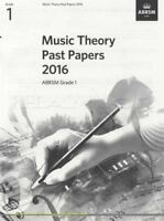 ABRSM Music Theory Past Papers 2016 Grade 1 Exams Tests Sheet Music Book