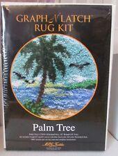 "MCG Textiles Graph N Latch Rug Kit Latch Hook Palm Tree 37654 18"" Round Beach"