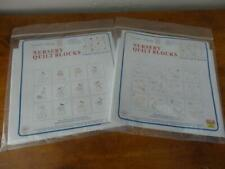 2 pks NURSERY QUILT BLOCKS stamped to embroiderJack Dempsey Little Boys&Girls