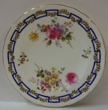 Royal Crown Derby SPRING (A736) Bread Plate BLUE GREEK KEY More Available POSIES