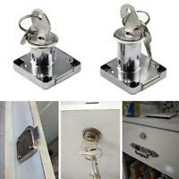 Cam Lock Silver Door Furniture Cabinet Letter Drawer Cupboard Locks + 2Keys