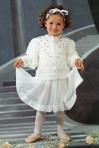 DK Knitting Pattern Girl's Toddlers Jacket Cardigan Sizes 20-30 inches #331
