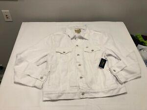 NWT $149.99 Polo Ralph Lauren Mens Denim Trucker Jacket White Size MEDIUM