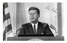 JOHN F KENNEDY JFK AUTOGRAPHED SIGNED A4 PP POSTER PHOTO