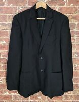 D&G Dolce Gabbana 38 / 52 Suit Jacket Sports Coat Black Wool Blend