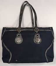 Tumi Bellevue COTTAGE ZIP TOTE Laptop Bag Navy Blue Snakeskin Trim 73246NVY $395