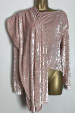 Asos Sample Pink Crushed Velour Jersey Wide Leg Lounge Wear Set Size 10