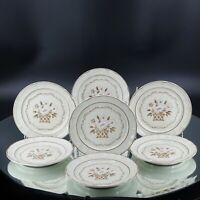 I Cumberland Stoneware May blossom  Hearthside Salad Plates Vintage Lot of 7