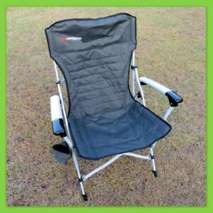 2 x Caribee Crossover Folding Camping Chair - Will hold up to 150kg