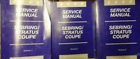 2002 Chrysler Dodge Sebring Stratus Coupe Shop Service Manual 3 Vol set