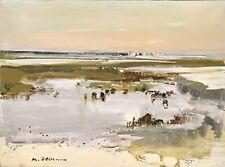 """Michel JOUENNE - """"Camargue - Huile sur toile signée - 54 x 73 cm"""