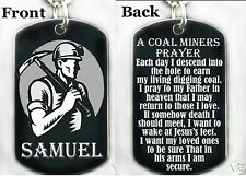 A COAL MINERS PRAYER - Dog tag Necklace or Key chain + FREE ENGRAVING